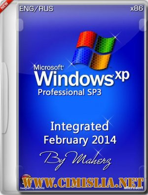 Windows XP Pro SP3 Integrated February 2014 Maherz [x86] [13.02.2014 / ENG / RUS]