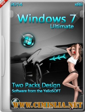 Windows 7 SP1 Ultimate Two Packs Design [x86] [07.01.2014 / RUS]